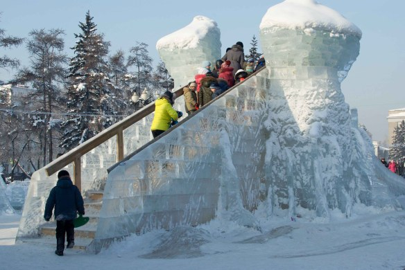 Ice Slide in Irkutsk