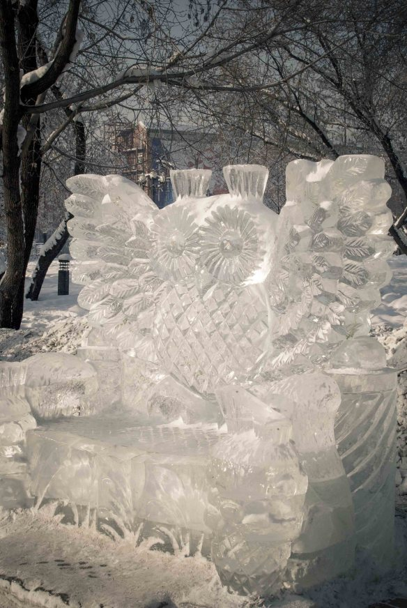 An Owl made of ice, Irkutsk