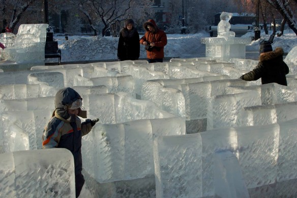 An ice maze, Irkutsk