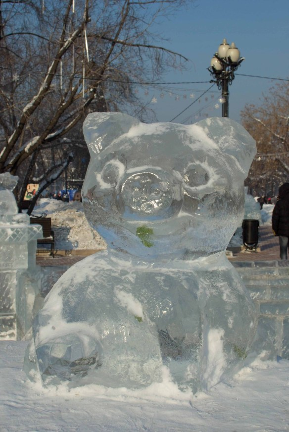 A Pig made of ice, Irkutsk