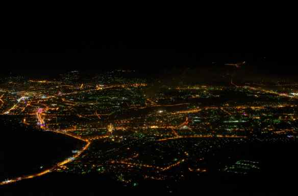 Out of the inky blackness of empty steppe rises a city of gold; Ulan-Ude.