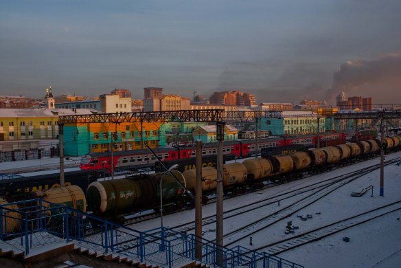 Late afternoon on the Trans Siberian Railway.