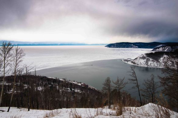 The Angara is the only river that flows from Lake Baikal. Over three hundred flow in! Due to her currents, no matter how cold it be, the Angara does not freeze over for some way down river.