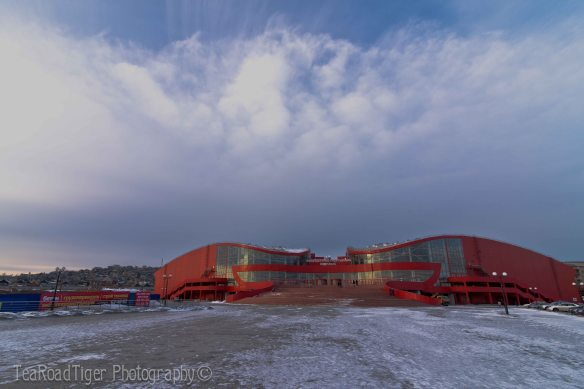 The recently finished Physical Culture and Sports Complex in Ulan-Ude. Физкульт Привет!