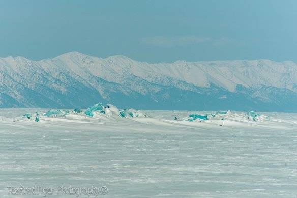 The Holy Nose Peninsula in winter on Baikal.