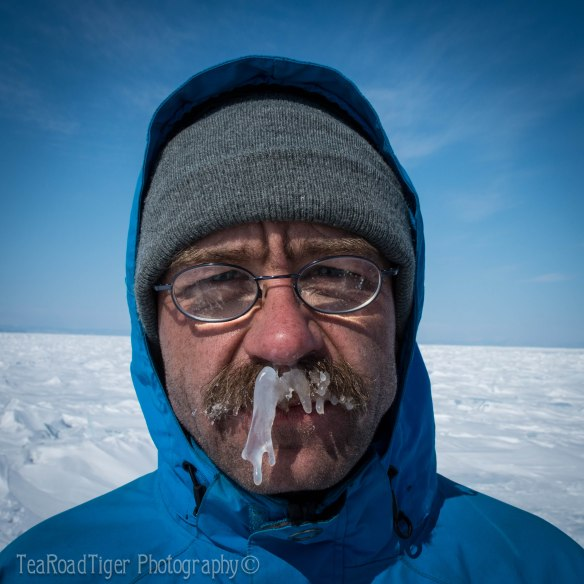 Valera sports an ice mustache.