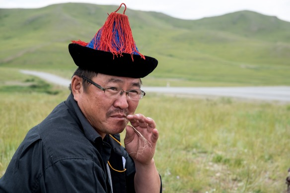 A Buryat patiently waits in his element.