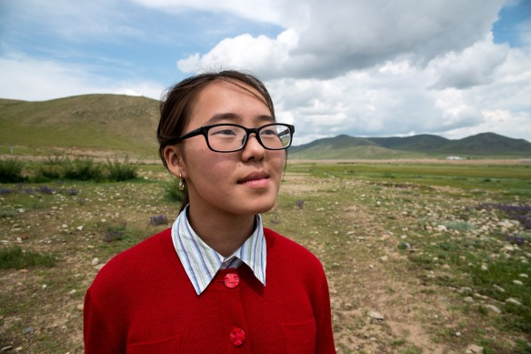 "Selenge rockin' that nerdy cool vibe out in the Mongolian steppe.  Selenge is named after the river ""Selenge"" or ""Selenga"" which flows north out of Mongolia into Buryatia right through Ulan-Ude into Lake Baikal."