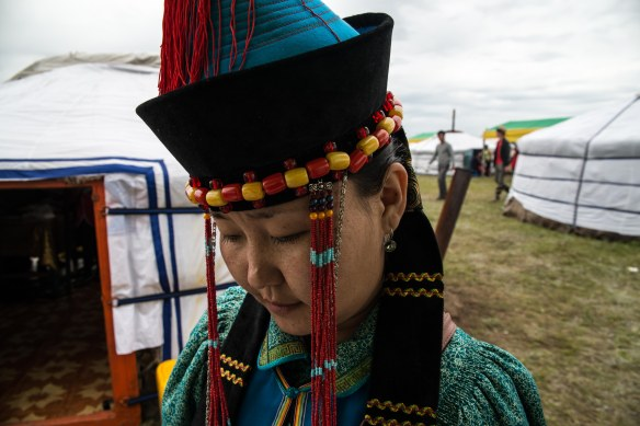 My friend Natasha representin' the Khori Buryat tribe on the Mongolian steppe.